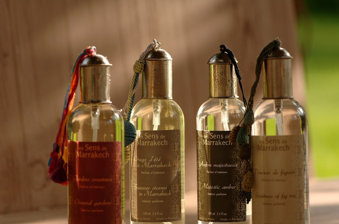 10 home fragrance scents inspired by nature and made in Marrakech